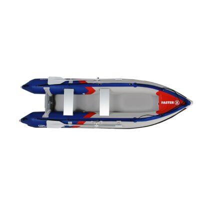 Runos pripučiamas PVC kajakas su transu (pilkas,raudonas,mėlynas)