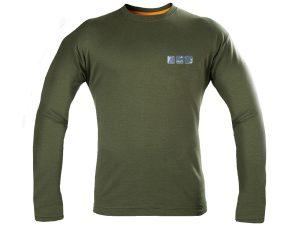 Vyriški termo marškinėliai alyviniai, ilgom rankovėm GRAFF957-OL-2-DL M